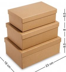 WG-110 Набор коробок из 3шт  Браун