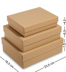 WG-111 Набор коробок из 3шт  Браун