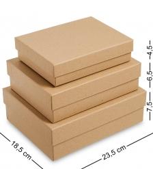 WG-112 Набор коробок из 3шт  Браун