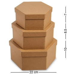 WG-113 Набор коробок из 3шт  Браун
