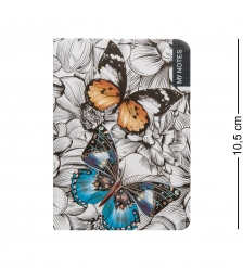 BM-20/2 Блокнот микро  Тропические бабочки   твердая обложка