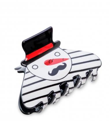 MR- 18 Заколка-краб для волос  Снеговик  Mark Rita