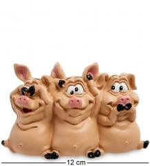 RV-618 Статуэтка  Трио мудрых свиней