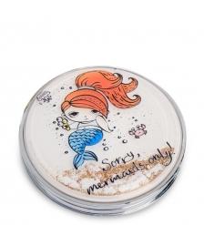 WW-109/5 Зеркало круглое с плавающими блестками «Русалочка»