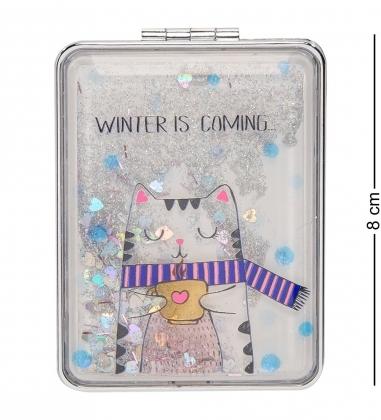 WW-116/4 Зеркало прямоугольное с плавающими блестками «Веселые зверята»