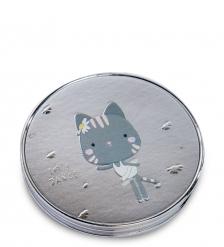 WW-124/1 Зеркало метал круглое  Милый котенок