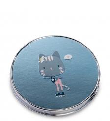 WW-124/2 Зеркало метал круглое  Милый котенок