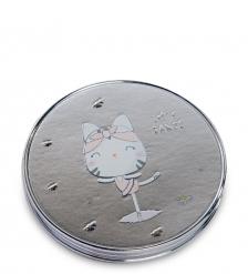 WW-124/4 Зеркало метал круглое  Милый котенок