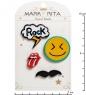 MR- 66 Н-р брошей с цанговым зажимом бабочка  Рок-стиль  Mark Rita