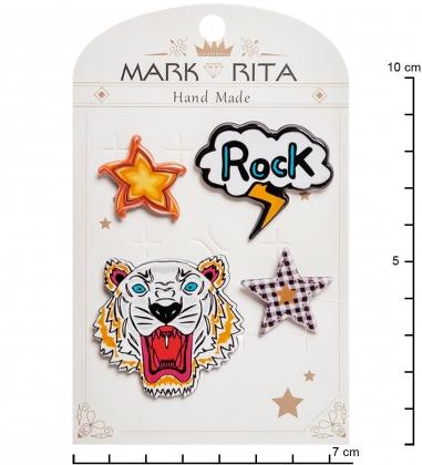 MR- 68 Н-р брошей с цанговым зажимом бабочка  Рок-стиль  Mark Rita