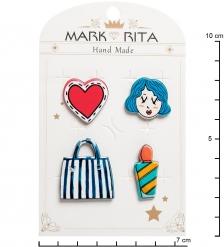 MR- 70 Н-р брошей с цанговым зажимом бабочка  Гламурный стиль  Mark Rita
