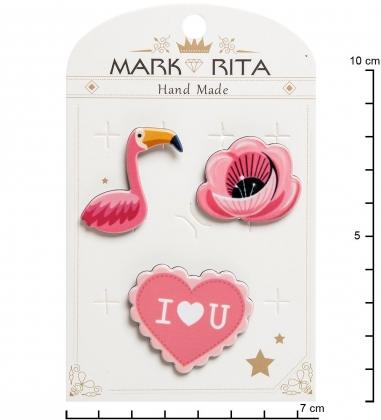 MR- 76 Н-р брошей с цанговым зажимом бабочка  Романтика  Mark Rita
