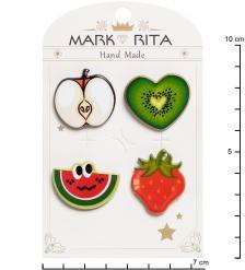 MR- 85 Н-р брошей с цанговым зажимом бабочка  Фруктик  Mark Rita