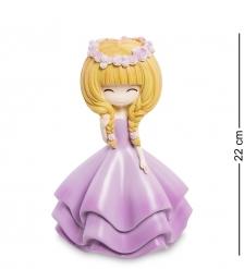 MF-02 Копилка маленькая  Девочка в фиолетовом платье