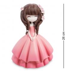 MF-09 Копилка средняя  Девочка в розовом платье