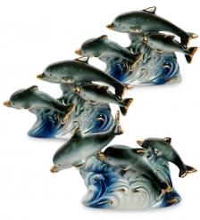 VS-411 Комплект из трех фигурок  Семейства дельфинов