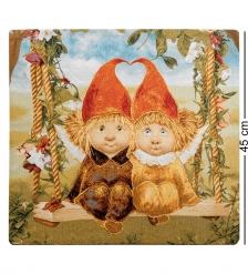 ANG-434 Наволочка гобеленовая «Ангелы вечной любви» 45х45