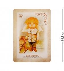 ANG-442 Открытка-ретро  Мечтательный ангел  15х10,5