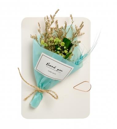 DF-94 Открытка с букетом из сухоцветов в подарочкой коробке Для тебя - Вариант A