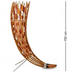 FINALI- 28 Светильник напольный «Перо павлина»