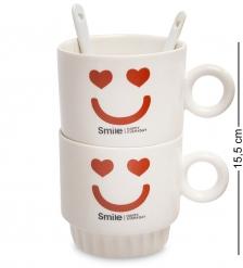 MUG-171/1 Набор из двух кружек  Счастливая улыбка каждый день