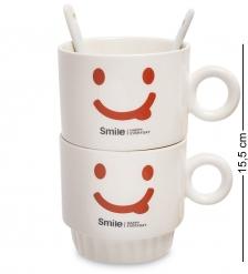 MUG-171/2 Набор из двух кружек  Счастливая улыбка каждый день