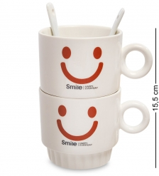 MUG-171/3 Набор из двух кружек  Счастливая улыбка каждый день