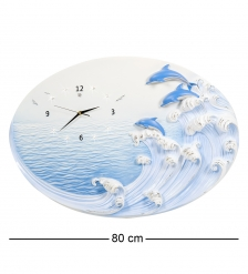 ART-318 Часы  Дельфины на гребне волны