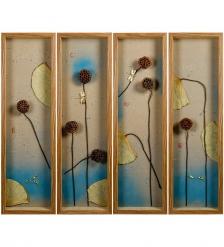 ART-400 Панно модульное из четырёх картин «Лазурное утро»