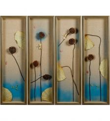 ART-401 Панно модульное из четырёх картин «Лазурное утро»