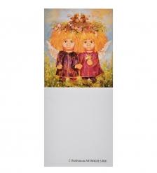 ANG-453 Виниловый магнит  Ангел семейного счастья  5х7