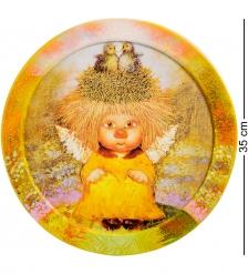 ANG-460 Жикле в круглой раме  Ангел семейного счастья  D=30
