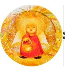 ANG-464 Жикле в круглой раме  Ангел освещающий жизненный путь  D=30