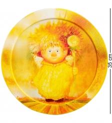 ANG-465 Жикле в круглой раме  Ангел крепкого здоровья  D=30