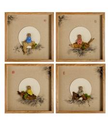 ART-404 Панно модульное из четырёх картин «Дзен медитация»
