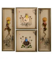 ART-405 Панно модульное из четырёх картин «Дзен медитация»
