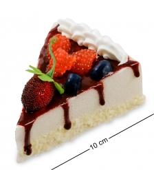 QS-01/4 Пирожное «Ягодное удовольствие»  имитация, магнит