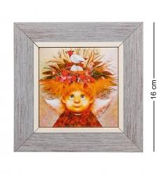 ANG-498 Панно керамическое «Ангел хранитель семейного гнездышка» 10х10