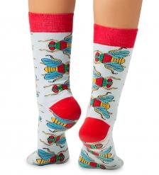 Носки креативные ASHA-0008 Housefly голубой/красный 36-39  Artsocks