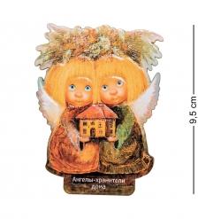 ANG-554 Магнит деревянный  Ангелы хранители дома