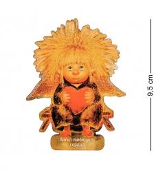 ANG-555 Магнит деревянный  Ангел любящего сердца