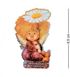 ANG-556 Магнит деревянный  Ангел надежды и веры