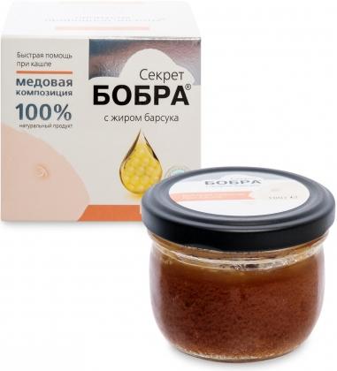 MED-06/04  Секрет бобра  Медовая композиция с жиром барсука, 100 г