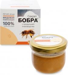 MED-06/08  Секрет бобра  Медовая композиция с продукцией пчеловодства, 100 г