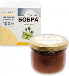 MED-06/09  Секрет бобра  Медовая композиция с лецитином, 100 г