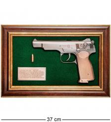 ПК-219 Панно с пистолетом «Стечкин» в подарочной упаковке 25х37