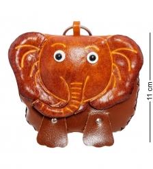 BL-09/2 Кошелёк кожаный  Слон
