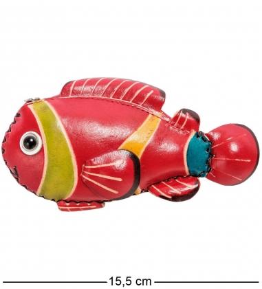 BL-32/1 Кошелёк кожаный Рыба