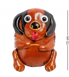 BL-48/1 Кошелёк кожаный «Собака»