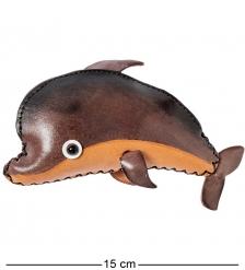 BL-51/1 Кошелёк кожаный  Дельфин